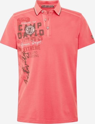 CAMP DAVID Shirt in dunkelgrau / rot, Produktansicht