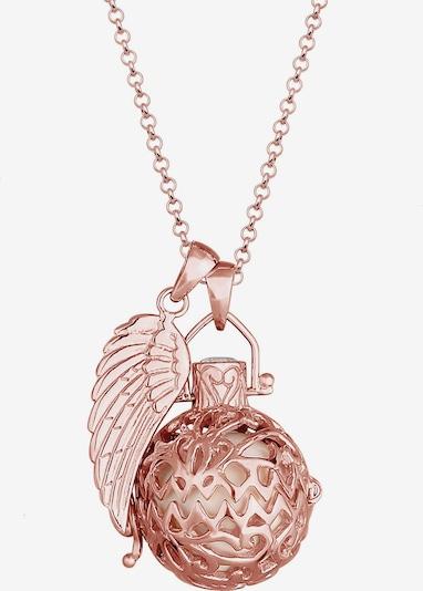 Nenalina Halskette Engelsflüsterer, Flügel, Kugel, Ornament in rosegold, Produktansicht