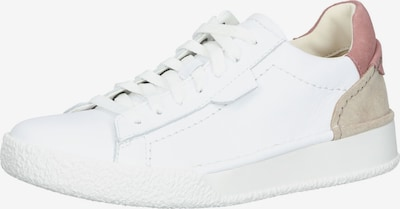 CLARKS Sneakers in Beige / Pink / White, Item view