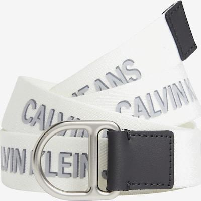 Calvin Klein Jeans Gürtel in silbergrau / dunkelgrau / weiß, Produktansicht