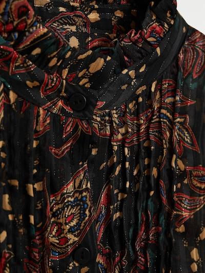 MANGO Bluse in hellbraun / rostrot / schwarz, Produktansicht
