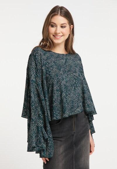 MYMO Bluse in beige / grün / schwarz, Modelansicht