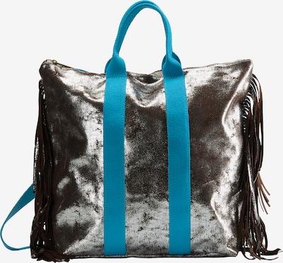 IZIA Rucksack in himmelblau / silber, Produktansicht
