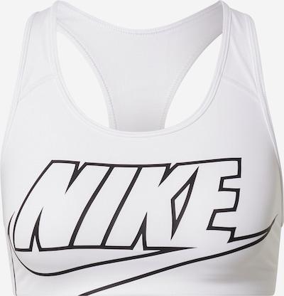 NIKE Sport bh 'SWOOSH FUTURA' in de kleur Zwart / Wit, Productweergave