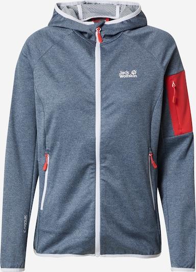 JACK WOLFSKIN Bluza polarowa funkcyjna 'MILFORD' w kolorze gołąbkowo niebieski / czerwony / białym, Podgląd produktu