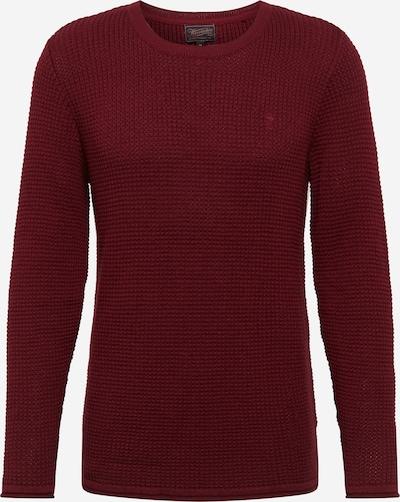 Herrlicher Pullover 'Fred' in dunkelrot, Produktansicht