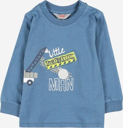Tricou KANZ pe albastru fumuriu / galben deschis / gri metalic / gri bazalt / alb, Vizualizare produs