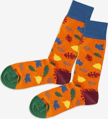 DillySocks Socken 'Afternoon Leaves' in Orange