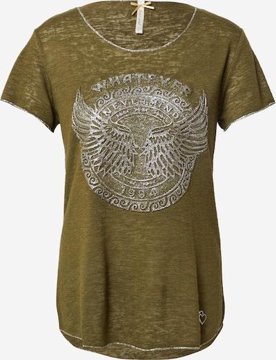 Key Largo Shirt 'NEVER' in khaki / silber, Produktansicht
