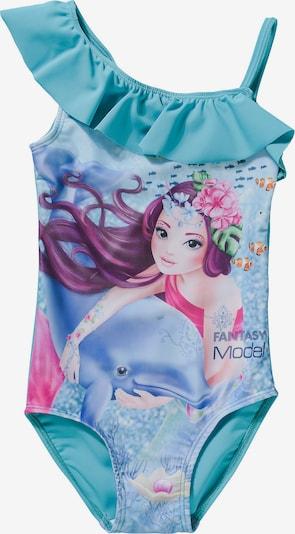 TOP MODEL Badeanzug in türkis / pink, Produktansicht