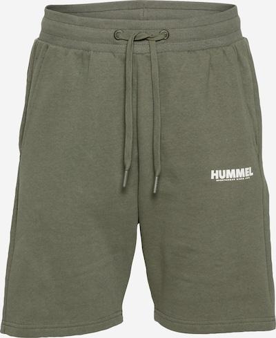 Hummel Pantalón deportivo en verde / blanco, Vista del producto