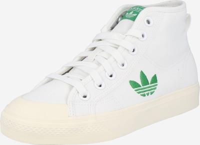 ADIDAS ORIGINALS Baskets hautes 'NIZZA TREFOIL HI W' en vert / blanc, Vue avec produit