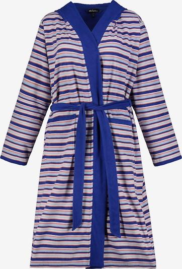 Ulla Popken Badjas lang  in de kleur Royal blue/koningsblauw / Pastelblauw / Rood / Wit, Productweergave