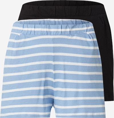 ONLY Pantalon 'MAY' en bleu fumé / noir / blanc, Vue avec produit