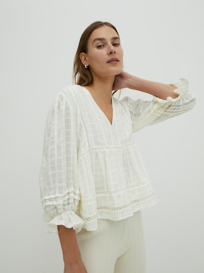 EDITED Blouse 'Alyssa' in de kleur Wit, Modelweergave