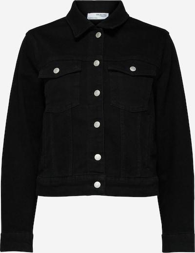 Selected Femme Curve Jeansjacke in schwarz, Produktansicht