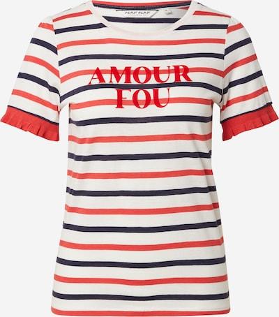 NAF NAF Shirt 'OMADEM' in navy / hellrot / naturweiß, Produktansicht