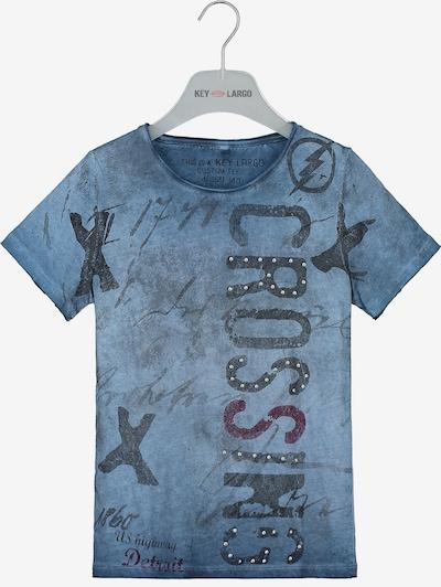 Key Largo T-Shirt 'BT Highway' in blau, Produktansicht