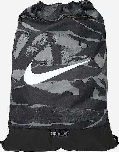 NIKE Sports gym bag in Grey / Black / White, Item view