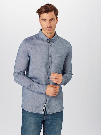 !Solid Skjorte 'Arvid' i mørkeblå, Modelvisning