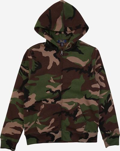 POLO RALPH LAUREN Bluza rozpinana w kolorze khaki / trawa zielona / czarnym, Podgląd produktu