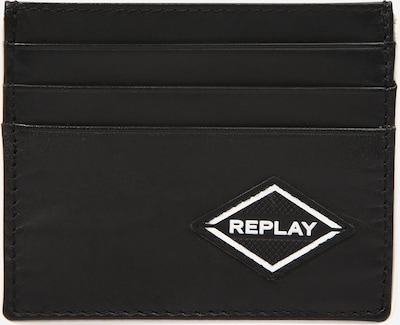 REPLAY Kartenetui in schwarz / weiß, Produktansicht