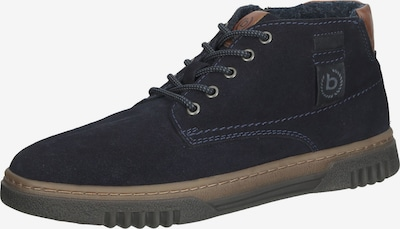 Auliniai batai su raišteliais iš bugatti, spalva – tamsiai mėlyna / ruda, Prekių apžvalga