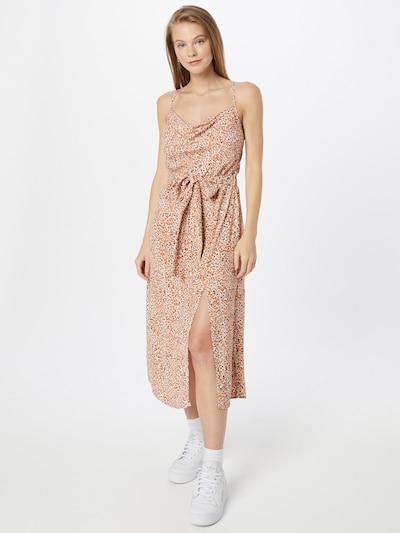 MINKPINK Kleid 'NEVAEH' in orange / schwarz / weiß, Modelansicht
