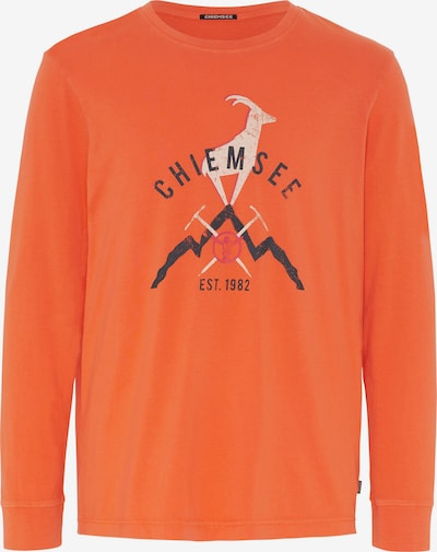 CHIEMSEE Functioneel shirt 'BROAD PEAK' in de kleur Antraciet / Sinaasappel / Wit, Productweergave