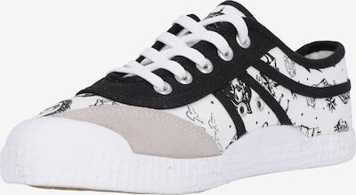KAWASAKI Sneakers laag 'Tattoo' in de kleur Zwart / Wit, Productweergave