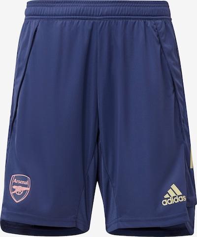 ADIDAS PERFORMANCE Sportbroek in de kleur Blauw / Koraal: Vooraanzicht