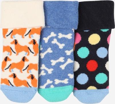 Happy Socks Socken in creme / rauchblau / cognac / jade / mischfarben, Produktansicht