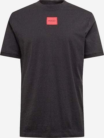 HUGO Shirt 'Diragolino212' in Black