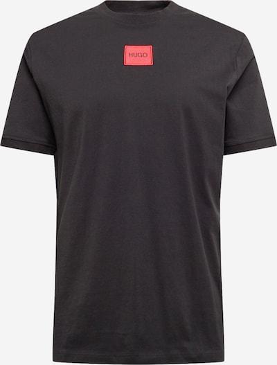 HUGO T-Shirt 'Diragolino212' in hellrot / schwarz, Produktansicht