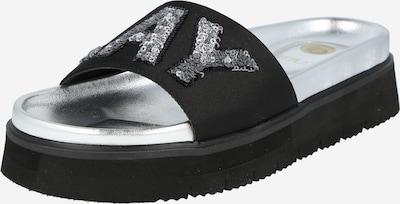 REPLAY Muiltjes 'Wikieup' in de kleur Zwart / Zilver, Productweergave