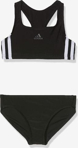 ADIDAS PERFORMANCE Sports swimwear 'FIT 2PC 3S Y' in Black