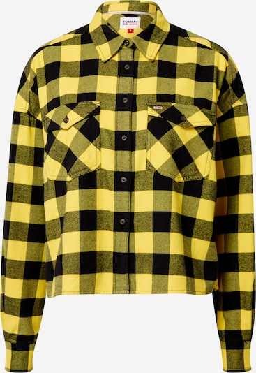 Tommy Jeans Chemisier 'Gingham' en jaune / noir, Vue avec produit