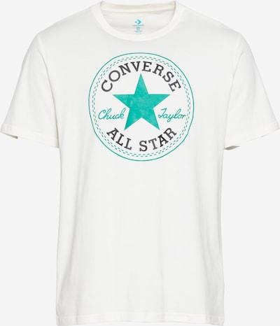 CONVERSE T-Shirt in creme / jade / schwarz, Produktansicht