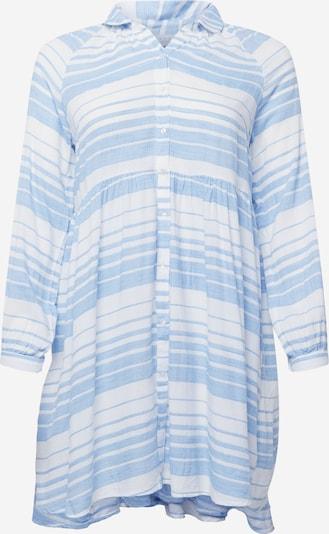 KAFFE CURVE Shirt dress 'Sylia' in Light blue / White, Item view