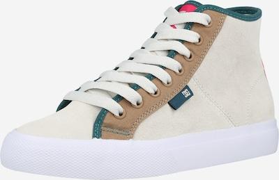 DC Shoes Augstie brīvā laika apavi 'MANUAL', krāsa - karameļkrāsas / zāles zaļš / grenadīna / balts, Preces skats
