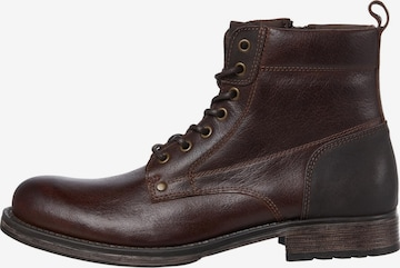 JACK & JONES Lace-Up Boots 'Woodford' in Brown