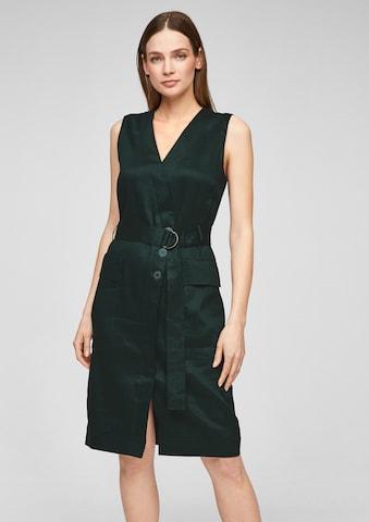 s.Oliver BLACK LABEL Shirt Dress in Green
