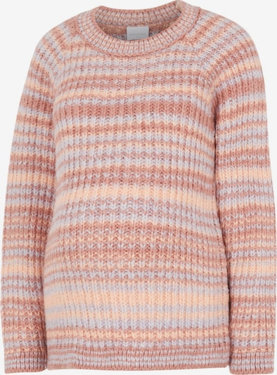 MAMALICIOUS Sweater 'EVY' in Peach / Dusky pink / Wool white, Item view