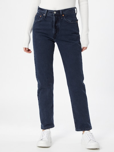 LEVI'S Jeans '501® CROP' in de kleur Navy, Modelweergave