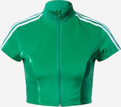 ADIDAS ORIGINALS Sweatjacke in grün / weiß, Produktansicht