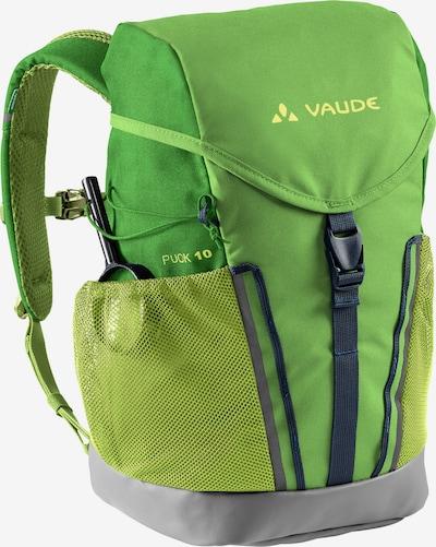 VAUDE Sports Backpack 'Puck 10' in Lemon yellow / Dark grey / Green, Item view