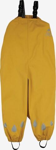 Frugi Kinder Regenhose PUDDLE (recycelt) in Gelb
