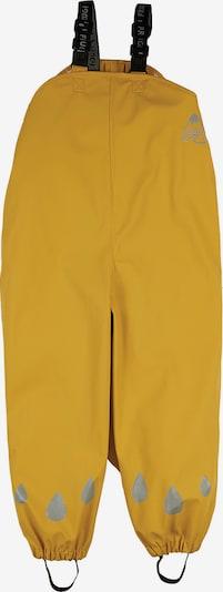 Frugi Kinder Regenhose PUDDLE (recycelt) in gelb, Produktansicht