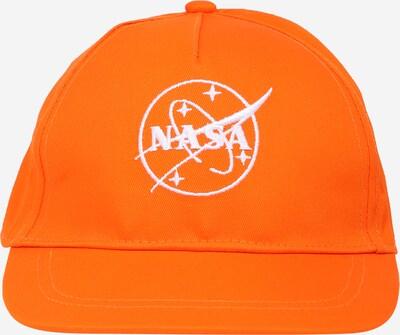 NAME IT Hoed 'NASA' in de kleur Sinaasappel / Wit, Productweergave