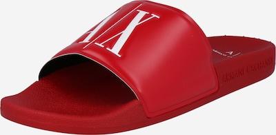 ARMANI EXCHANGE Muiltjes in de kleur Rood / Wit, Productweergave